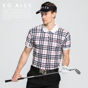 ゴルフの定番、タータンチェック柄がオーセンティックな雰囲気を醸し出す 半袖ポロシャツ。さらっと涼し気...