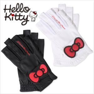 限定Hello Kittyコラボ★キティちゃんグローブ【両手・指先開き】/ゴルフ ウェア レディース...