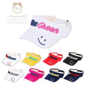 ピース刺繍サンバイザー/ゴルフ ウェア レディース 女性用