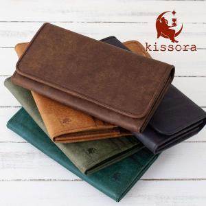 長財布 本革 kissora キソラ KIES-002 PUEBLO プエブロ 財布 レザー 日本製 イタリアンレザー レディース