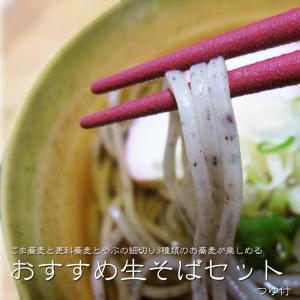 吉粋オススメ!生そばセット(ごま、更科、やぶ細切り)生蕎麦3種つゆ付|kissui