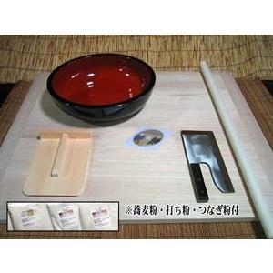 L型そば打ち道具一式・そば粉・小麦粉(強力粉)・打ち粉セット このセットで今すぐ蕎麦打ちが楽しめます|kissui