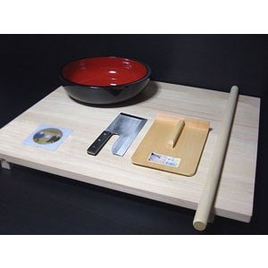 足付き 高級桐麺板、蕎麦打ちセット|kissui