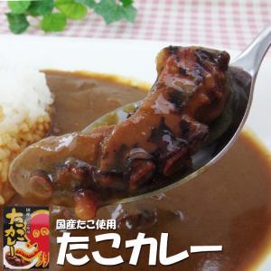 たこカレー×2個セット(国産蛸使用)国産のタコを使用したカレーです。蛸の旨味が程よく溶け出した味わい深いカレー ご当地カレー 稚内|kissui