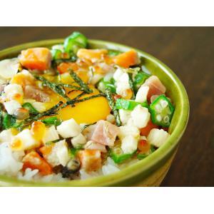 海鮮ねばねばぶっかけ爆弾230g(食べてキレイに!)本マグロ、サーモン、いくら、ほたて、ツブ ねばトロ食材のオクラ・長いも・がごめ昆布ネバトロ海鮮惣菜|kissui|06