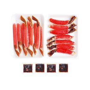 かにしゃぶセット(生タラバガニポーション 生ズワイガニポーション)北海の蟹シャブ たらばがにの肉厚な旨味 ずわいがに特有の甘味(送料無料)|kissui|04