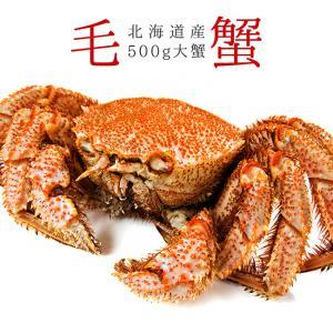 ボイル毛がに500g(北海道産特大毛蟹)このケガニ安いですが訳ありではありません(冷凍毛ガニ)蟹味噌が最高のカニ 三大蟹の1つのけがに kissui