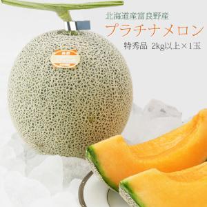 富良野プラチナメロン 2kg以上×1玉 (特秀品) 北海道産ふらのめろん 御中元・贈答用に最適|kissui