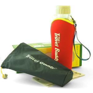 茶漉し付きエコボトル(Travel Buddy/トラベルバディ)PC-501 保温カバーセット レッド|kissyoumon