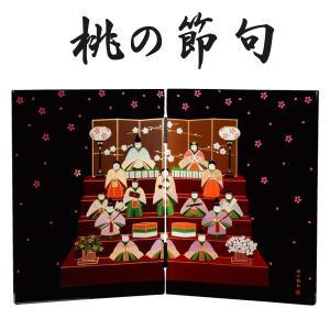 屏風 日本の歳時 桃の節句|kisyukirakuya