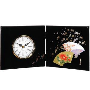 屏風時計 京扇面 木製 置時計|kisyukirakuya
