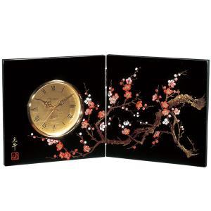 屏風時計 香林 木製 置時計|kisyukirakuya