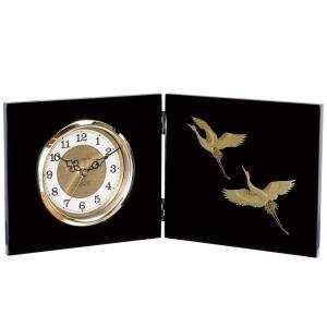 屏風時計 寿鶴 木製 置時計|kisyukirakuya