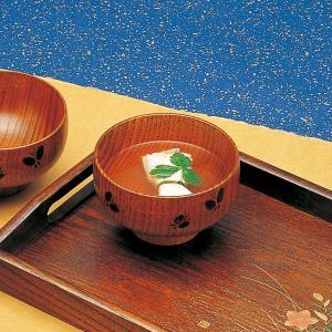 お椀 汁椀 木製 蝶彫 うるし塗 単品 kisyukirakuya