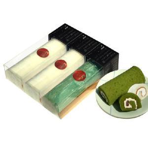 【洋菓子アリス】商品 長もっちロール(ハーフ25cm) プレーン2本+抹茶か黒ごま1本の3本セット ※商品9個分に相当【冷凍品】|kita-dotto-com