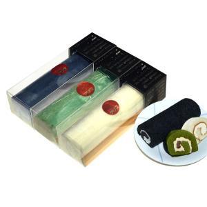 【洋菓子アリス】商品 長もっちロール(ハーフ25cm) プレーン1本+抹茶か黒ごま2本の3本セット ※商品9個分に相当【冷凍品】|kita-dotto-com