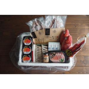 〔送料無料〕〔お買い得〕Food trip box to Hokkaido L(北海道食の旅ボックスL)〔同梱不可〕北港直販☆きんき・うに・いくら・ししゃも・ほっけ・いか・たらこ|kitachokuhan