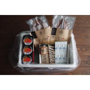 〔送料無料〕〔お買い得〕Food trip box to Hokkaido M(北海道食の旅ボックスM)〔同梱不可〕北港直販☆ししゃも・たらこ・ほっけ・いか・紅鮭|kitachokuhan