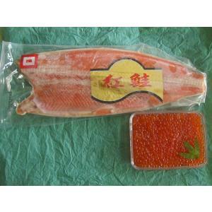 鮭親子セット(いくら醤油漬500g+紅鮭フィレ1kg)〔E〕北港直販☆イクラ・しゃけ|kitachokuhan