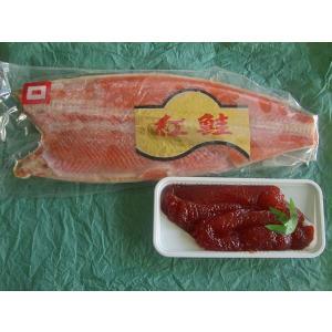 鮭親子セット(トラウトサーモン塩筋子500g+紅鮭フィレ1kg)〔E〕北港直販☆イクラ・しゃけ|kitachokuhan