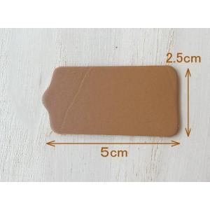 5×2.5cm10枚無地/ヌメ革タグ・ブラウン/革厚約1.6mm/オリジナル名札・ネームプレート|kitaebisu|02