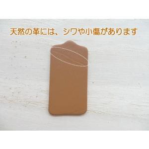 5×2.5cm10枚無地/ヌメ革タグ・ブラウン/革厚約1.6mm/オリジナル名札・ネームプレート|kitaebisu|03