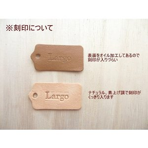 5×2.5cm10枚無地/ヌメ革タグ・ブラウン/革厚約1.6mm/オリジナル名札・ネームプレート|kitaebisu|05