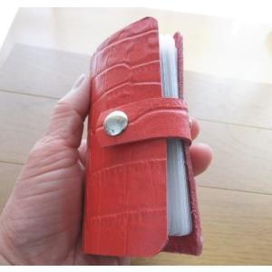 20枚収納/本牛革BOOK式カードケース/増えるカードがスッキリ/送料無料|kitaebisu|03