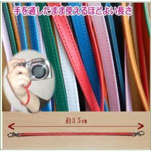 ハンドストラップ 革/カメラストラップ/上質の日本製の革/6色カラー kitaebisu 02