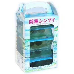"""北海道阿寒湖温泉の新しい定番のおみやげです。 阿寒湖を再現したような""""ゼリー""""のご紹介です♪ 菓子名..."""