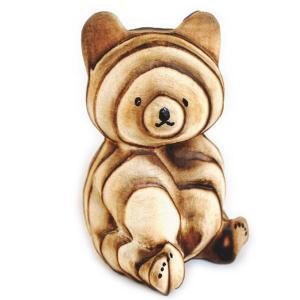熊ボッコ 置物 中 です。 木製の熊の置物です。 1個1個手つくりによる作品の為、1個1個が写真とは...