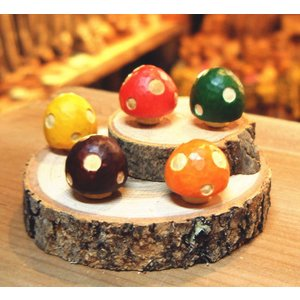 木製のきのこの置物 小 木 キノコ 雑貨小物 オブジェ インテリア