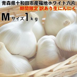 訳あり にんにく 青森県産 生にんにく ホワイト六片生にんにくMサイズ1kg  青森県産生にんにく kitaguniokome