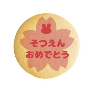 メッセージクッキー  そつえんおめでとう_桜ピンク 卒園 お...
