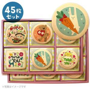 ありがとうメッセージクッキーお得な45枚セット(箱入り)お礼・プチギフト・ショークッキー
