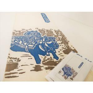 飾り牛手拭い kitahirokankou