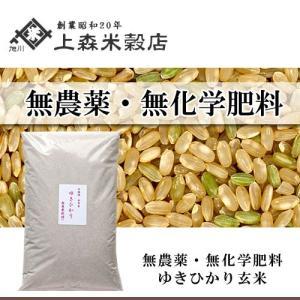 北海道産 無農薬・無化学肥料ゆきひかり玄米 玄米はビタミン・ミネラル、食物繊維が豊富です。 安心の北...