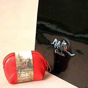 北海道蝦夷鹿皮 銀鹿 月丸ポーチ 北海道お土産ギフト人気(dk-1 dk-2 dk-3)|kitanomori