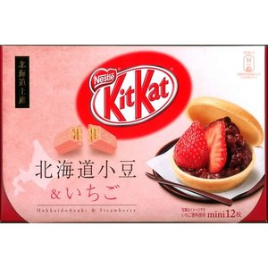 北海道土産 KitKat北海道小豆&いちご 北海道お土産 (dk-2 dk-3)  kitanomori