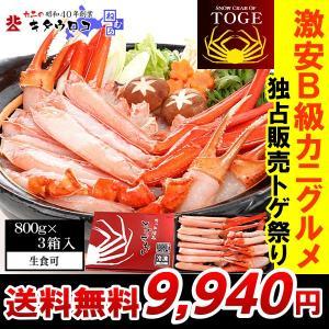 ■商品名: 生トゲズワイ詰め合わせ  ■内容量: トゲズワイ蟹 800g×3箱セット ・南蛮付棒肉ポ...