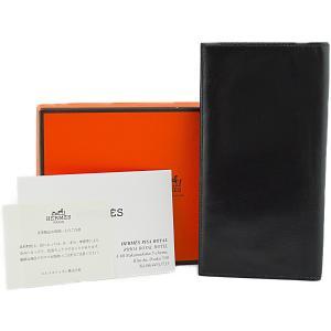 ◆エルメス◆長財布 オオサカ 長札入れ ボックスカーフ ブラック メンズ HERMES 美品
