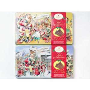 クリスマスノスタルジック チョコエンボス缶お菓子 クリスマス 輸入食品|kitchen-garden
