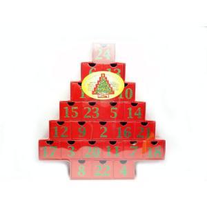 クリスマスクリスマスツリー アドベントカレンダー カウントダウンカレンダー レッド 輸入食品|kitchen-garden