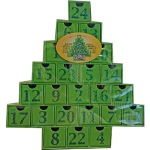 クリスマスクリスマスツリー アドベントカレンダー カウントダウンカレンダー グリーン 輸入食品|kitchen-garden