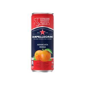 サンペレグリノ スパークリング フルーツベバレッジ アランチャータ・ロッサ(ブラッドオレンジ) 330ml × 12本 缶の商品画像|ナビ