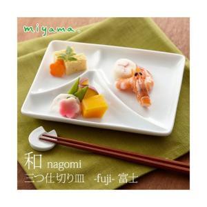 和 nagomi 三つ切り皿 -fuji-富士 食器|kitchen-garden
