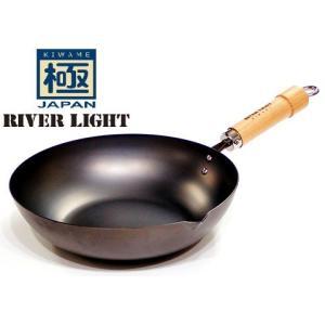 品名:リバーライト 極JAPAN 炒め鍋 30cm  取手を含む商品外径サイズ(cm):全長50.0...