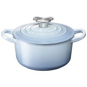 ル・クルーゼココット・ロンド 14cm ベアーツマミ (コースタルブルー)21001-14-42  【 ルクルーゼ LeCreuset 鍋 離乳食 】|kitchen