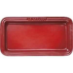 ル・クルーゼレクタンギュラー・プレート LC (チェリーレッド)910037-00-06 【 ルクルーゼ LeCreuset 食器 角皿 】|kitchen