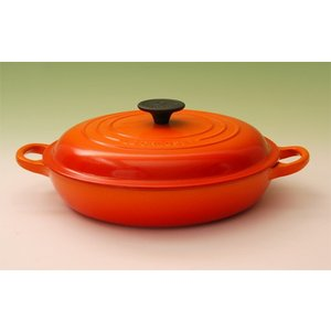 ル・クルーゼ ビュッフェキャセロール26cm【ルクルーゼ LeCreuset ホーロー】(2532-26)<オレンジ>|kitchen